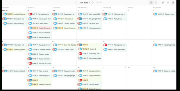 Social Media Calendar Spreadsheet Pertaining To The Best 2019 Content Calendar Template: Get Organized All Year