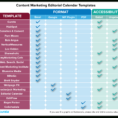 Social Media Calendar Spreadsheet Throughout Editorial Calendar Templates For Content Marketing: The Ultimate List