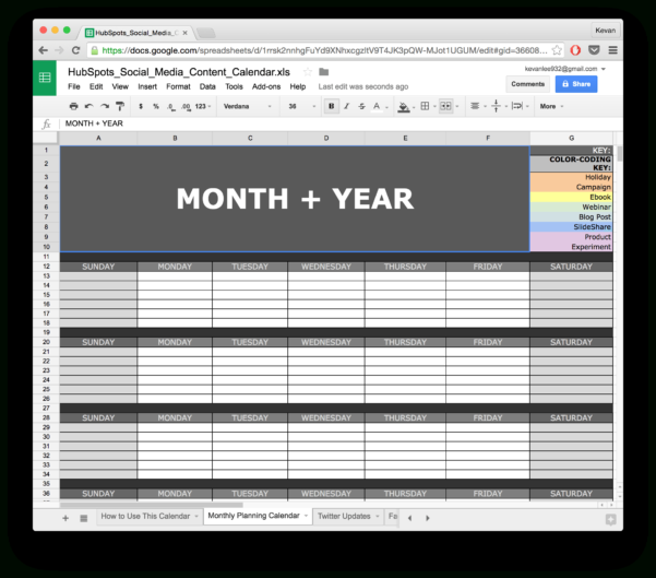 Social Media Calendar Spreadsheet With 10 Readytogo Marketing Spreadsheets To Boost Your Productivity Today