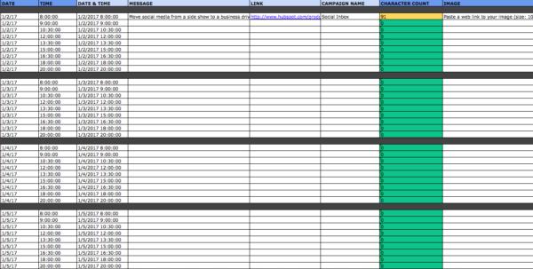 Social Media Calendar Spreadsheet Within The Social Media Content Calendar Template Every Marketer Needs