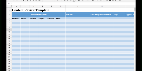 Social Media Planning Spreadsheet For 15 New Social Media Templates To Save You Even More Time