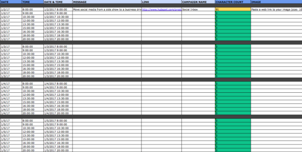 Social Media Planning Spreadsheet For The Social Media Content Calendar Template Every Marketer Needs
