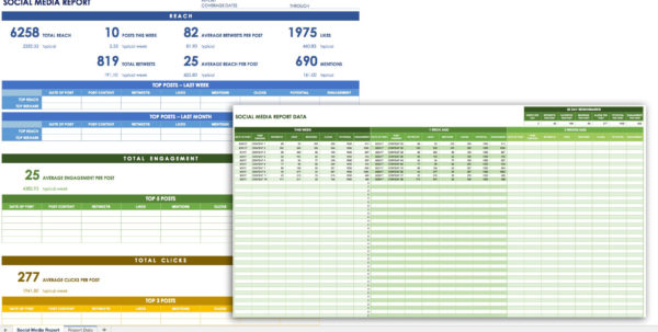 Social Media Planning Spreadsheet In 12 Free Social Media Templates  Smartsheet