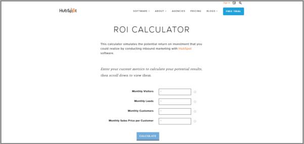 Software Roi Calculator Spreadsheet Within Outgrow