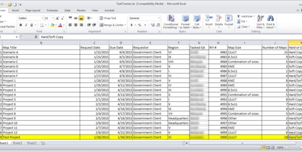 Software Tracking Spreadsheet Regarding Task Tracking Using Python And Arcgis – Zekiah Technologies, Inc. Software Tracking Spreadsheet Spreadsheet Download