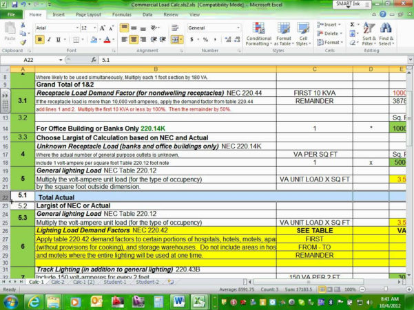 Solar Power Calculator Spreadsheet Intended For Electrical Commercial Project Calculation Excel File Youtube Example