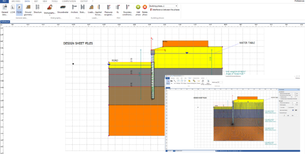 Soldier Pile Wall Design Spreadsheet Intended For Sheet Pile Wall Design  Spw
