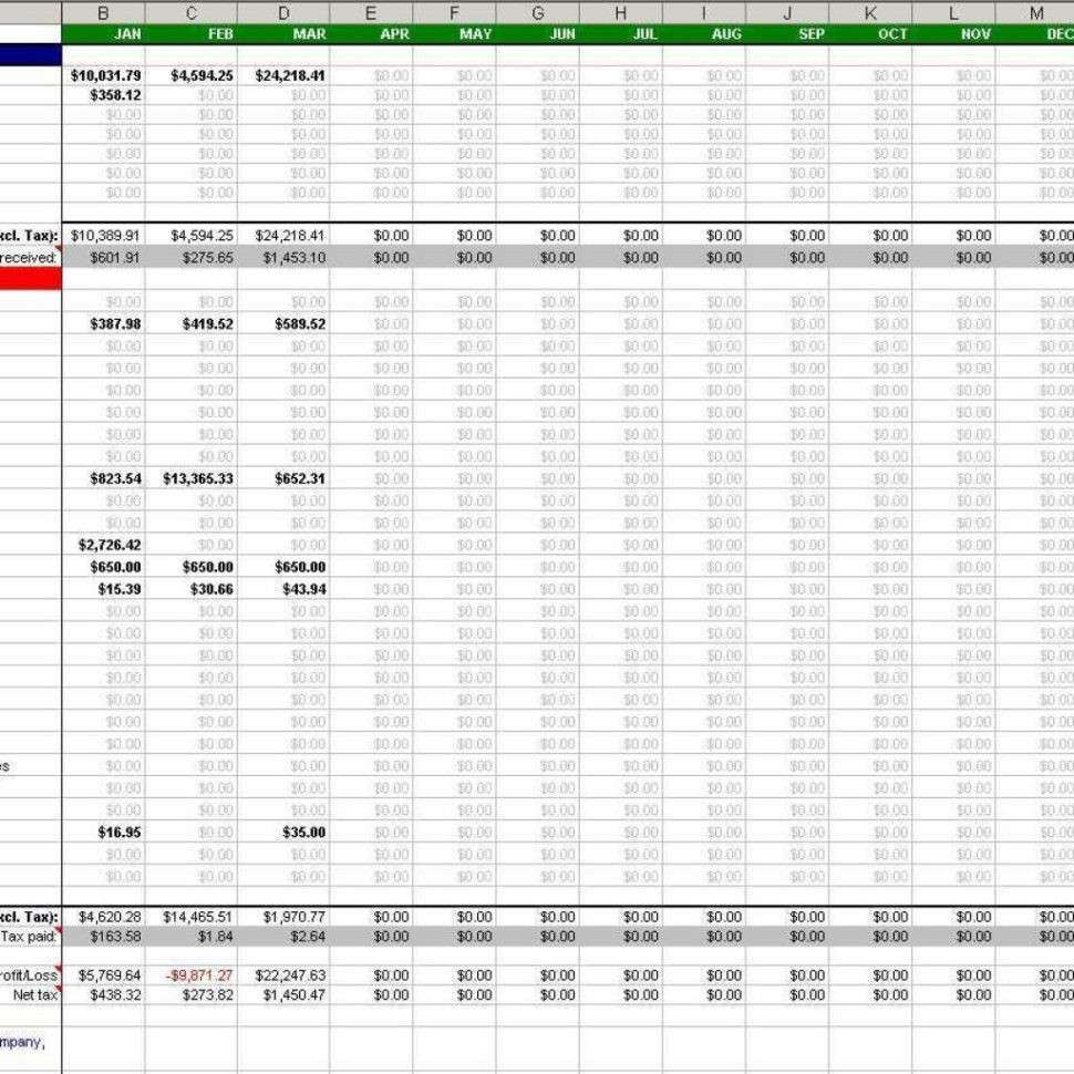 Sole Trader Spreadsheet Intended For Basic Accounting Spreadsheet Free Simple For Small Business Sole