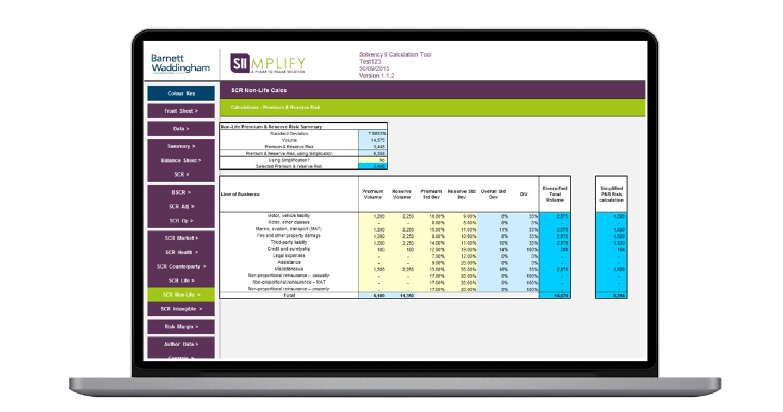 Solvency Ii Standard Formula Spreadsheet In Standard Formula Calculations Made Simple  Barnett Waddingham
