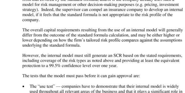 Solvency Ii Standard Formula Spreadsheet Regarding Solvency Ii Life Insurance  Pdf