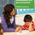 Special Education Accommodations Spreadsheet Pertaining To Download This Spreadsheet To View Student Accommodations And