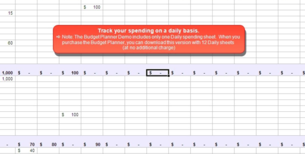 Spending Spreadsheet Within Budget Plan Spreadsheet Planner Ndash Daily Spending Inside Invoice