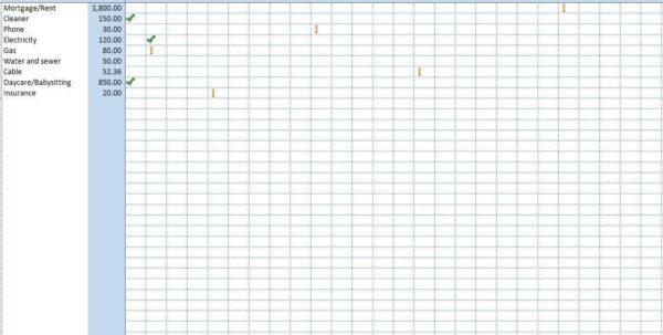 Split Bills Excel Spreadsheet For Excel Template For Bills Spreadsheet Templates Expense Tracking Bill