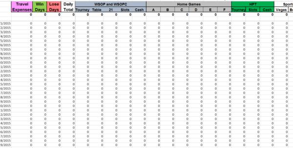 Sports Betting Spreadsheet For Irs Gambling Log Excel Spreadsheet  The Dough Holder
