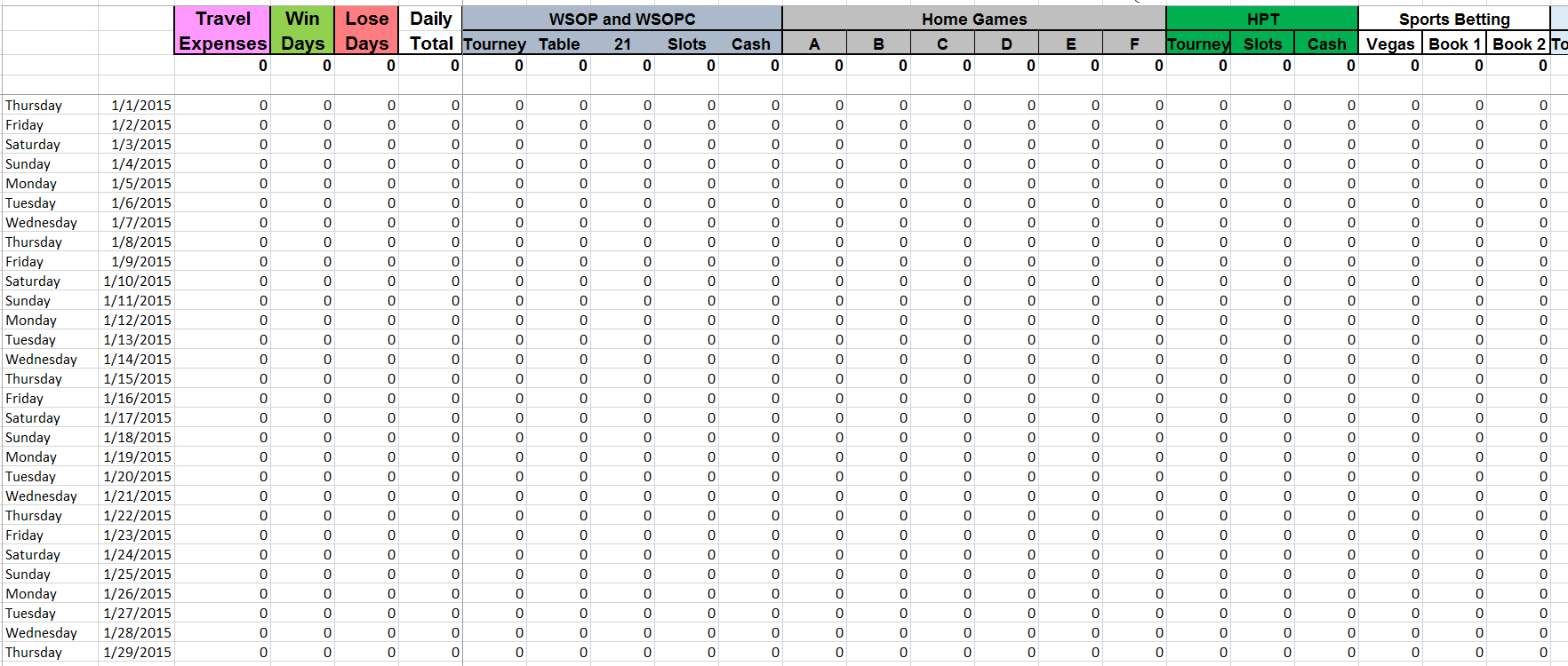 Sports Betting Spreadsheet For Irs Gambling Log Excel Spreadsheet  The Dough Holder