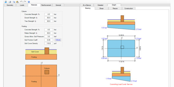 Spread Footing Design Spreadsheet For Spread Footing Design Spreadsheet  Aljererlotgd
