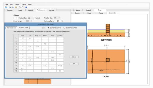 Spread Footing Design Spreadsheet Regarding Spread, Combined, Strap Footing Design Software  Asdip Foundation
