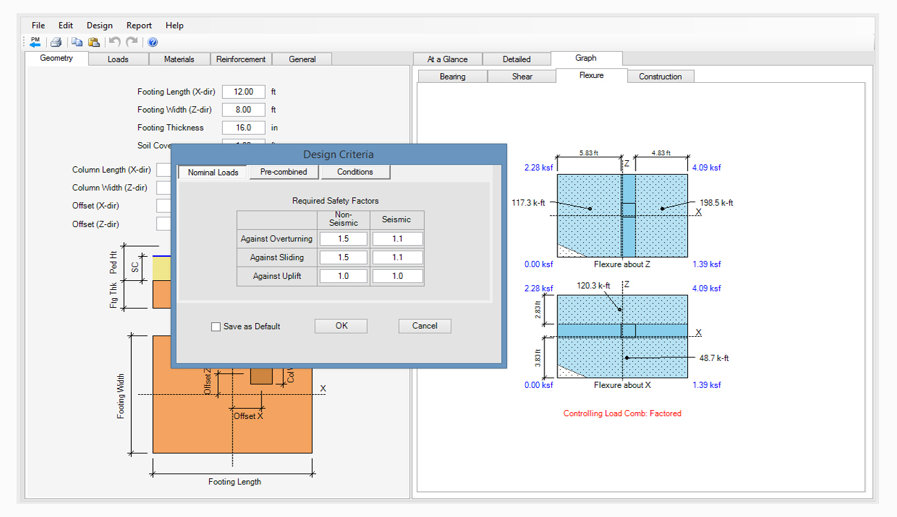 Spread Footing Design Spreadsheet Within Spread, Combined, Strap Footing Design Software  Asdip Foundation
