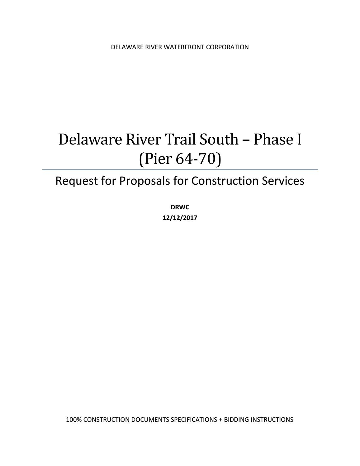 Spreader Beam Calculation Spreadsheet In Delaware River Trail South: Phase I Pier 6470 Bid Book