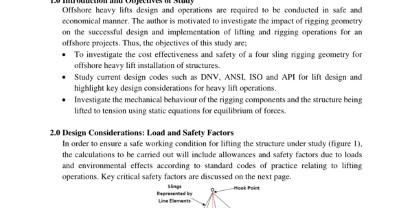 Spreader Beam Calculation Spreadsheet Inside Pdf Offshore Heavy Lift Design And Operations: Sling Tension In