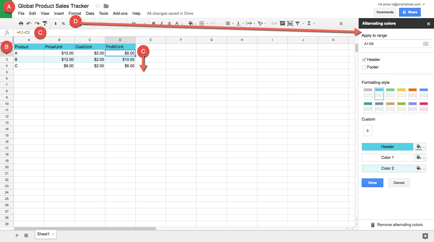 Spreadsheet And Excel For How To Make A Spreadsheet In Excel, Word, And Google Sheets  Smartsheet