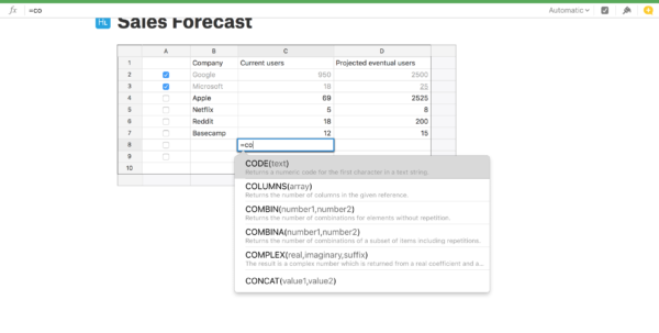 Spreadsheet App For Mac With From Visicalc To Google Sheets: The 12 Best Spreadsheet Apps