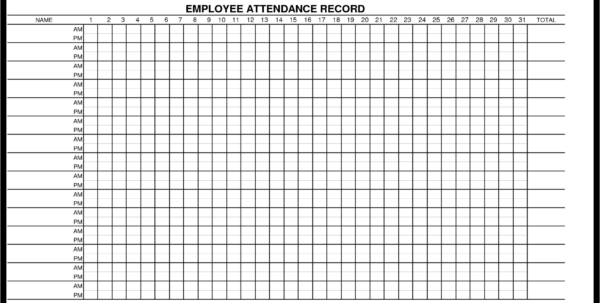 Spreadsheet Attendance Template For Attendance Template Excel  My Spreadsheet Templates