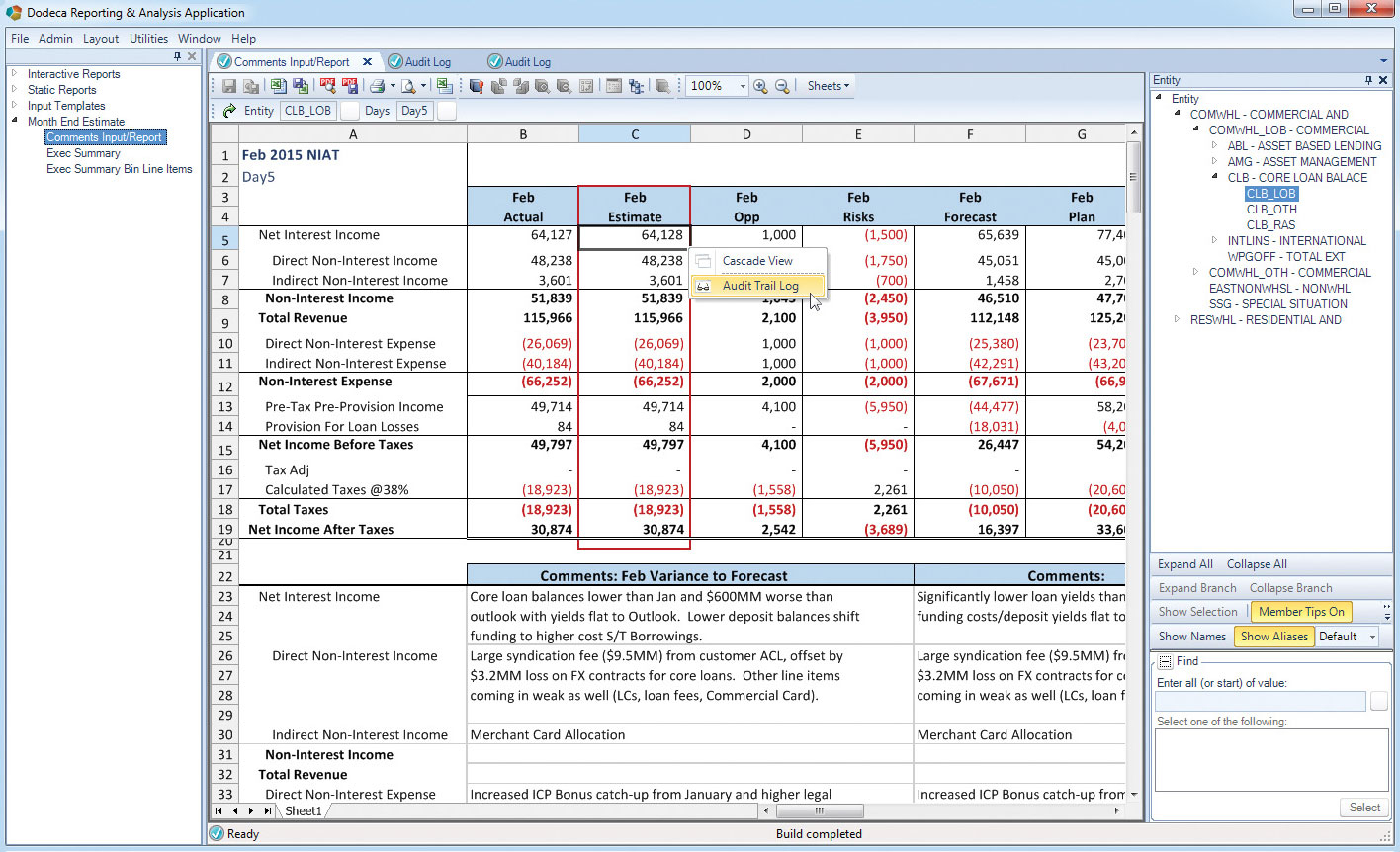 Spreadsheet Auditing Software Free For Managing Spreadsheet Risk: Dodeca Spreadsheet Management System