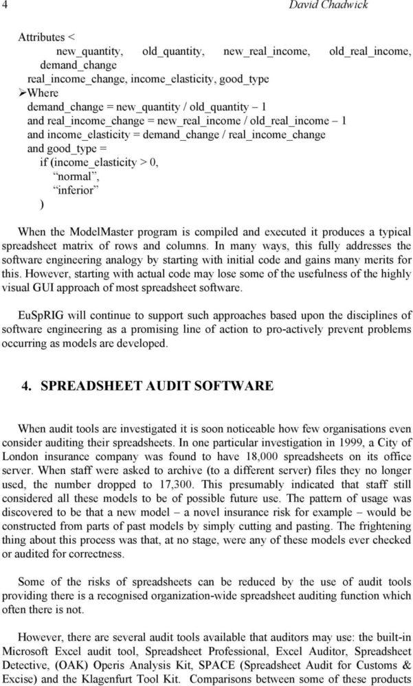 Spreadsheet Auditing Tools In Stop That Subversive Spreadsheet!  Pdf