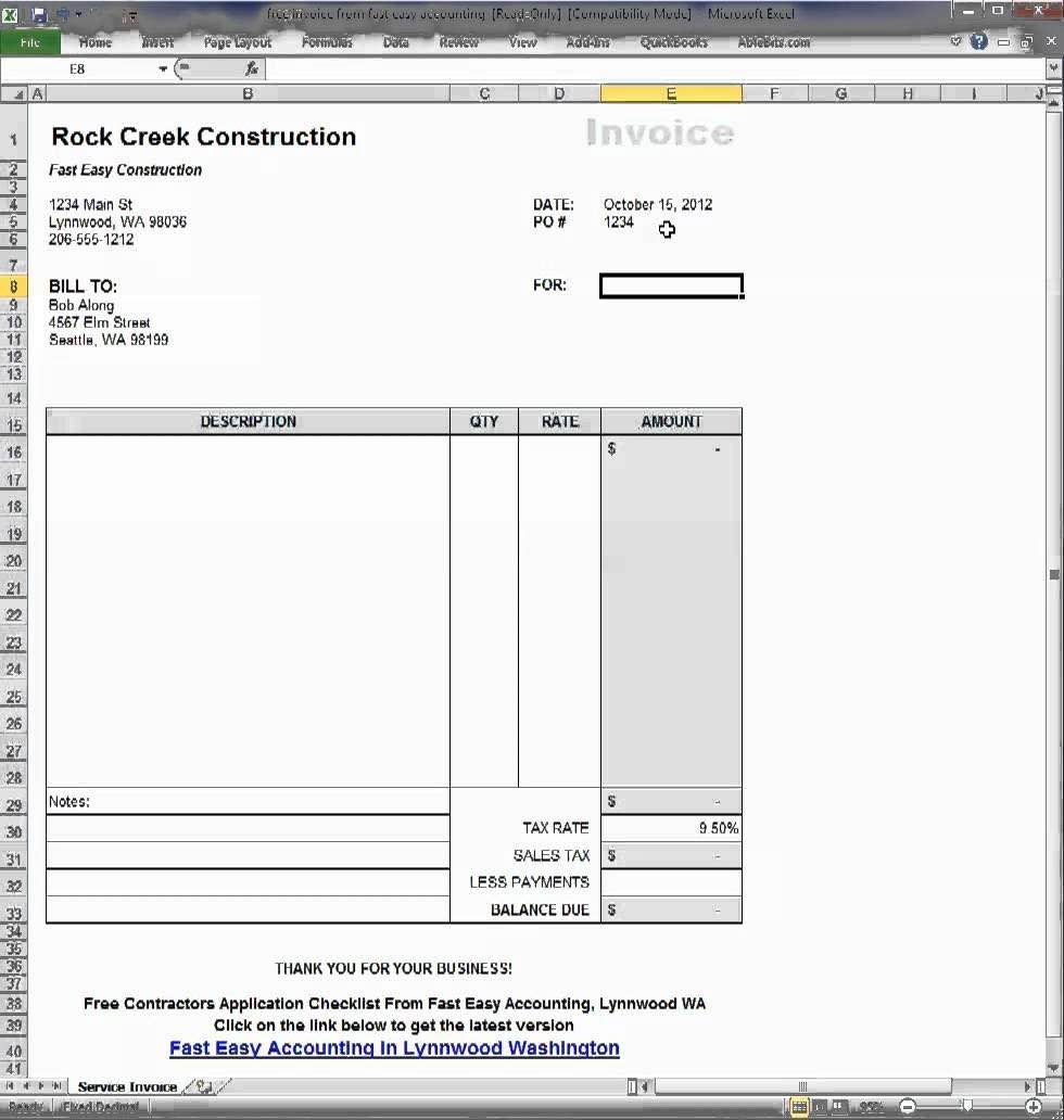 Spreadsheet Automation Within Create Invoices From Excel Spreadsheet And Invoice Generator Excel