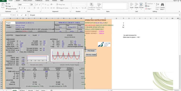 Spreadsheet Calculator App Inside Example Of Spreadsheet Calculator App Civil Structural Engineering