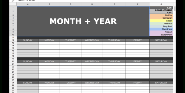 Spreadsheet Calendar Template Intended For 10 Readytogo Marketing Spreadsheets To Boost Your Productivity Today Spreadsheet Calendar Template Spreadsheet Download