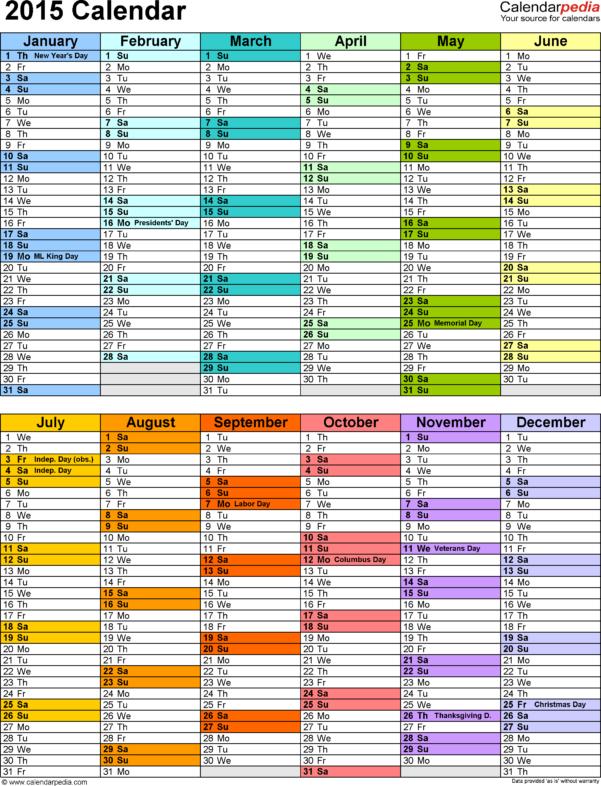 Spreadsheet Calendar Template Intended For 2015 Calendar Excel  Download 16 Free Printable Templates .xlsx