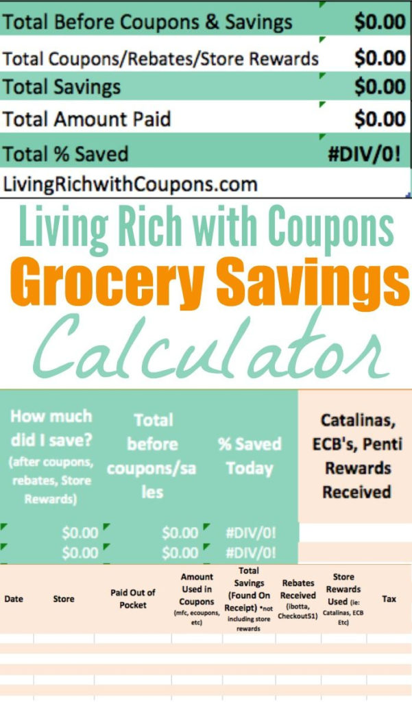 Spreadsheet Codes In Example Of Coupon Calculator Spreadsheet Grocery Excel Codes For