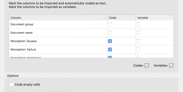 Spreadsheet Codes Regarding Survey Data From Excel  Maxqda  The Art Of Data Analysis  Maxqda