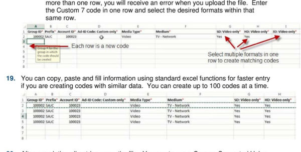 Spreadsheet Codes Within Creating Codes With Spreadsheet Upload  Pdf