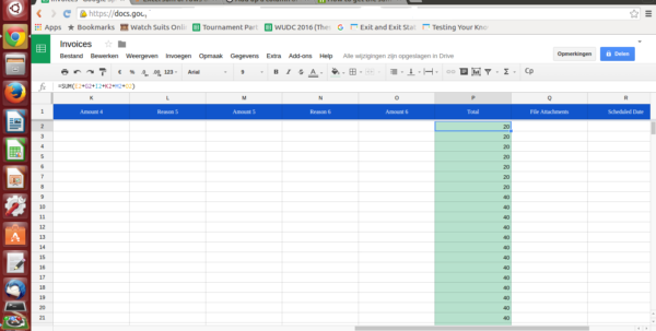 Spreadsheet Column In Google Spreadsheets Sum Or Rows Of Certain Columns  Stack Overflow