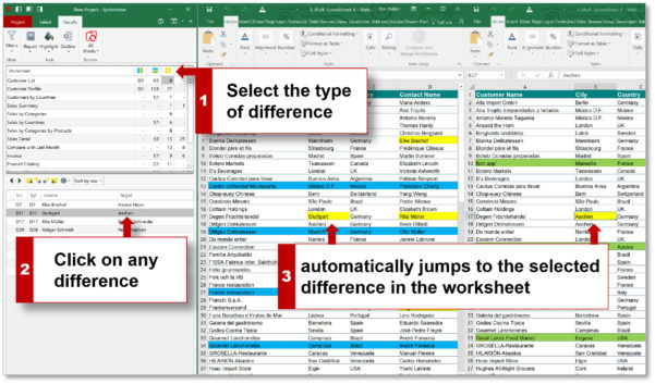 Spreadsheet Compare Online Regarding Best Tool To Compare Excel Files And Databases.  Synkronizer Excel