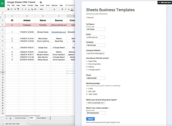 Spreadsheet Crm With Google Spreadsheet Crm  Pulpedagogen Spreadsheet Template Docs