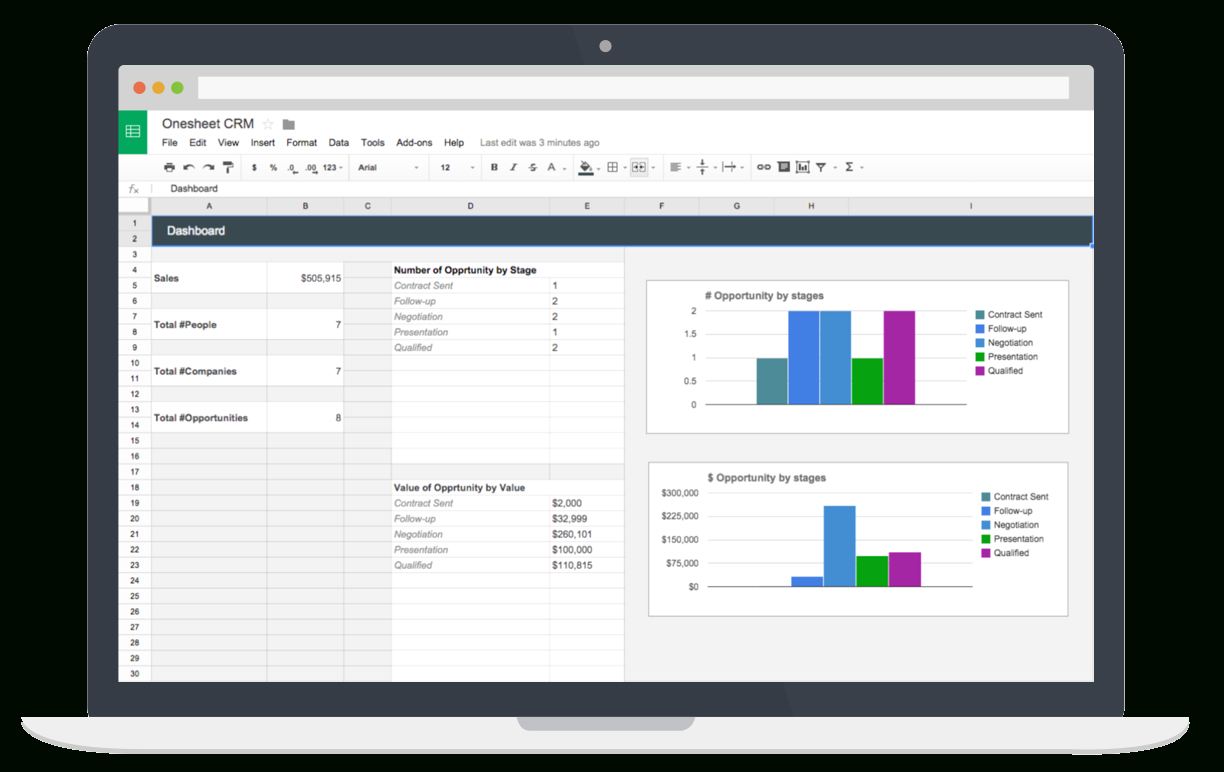 Spreadsheet Crm With Spreadsheet Crm