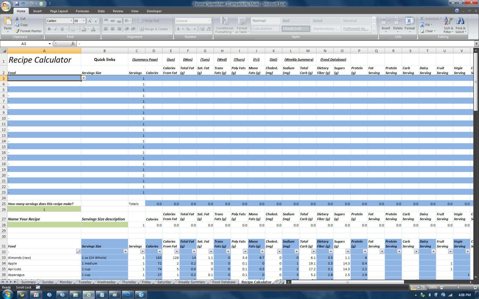 Spreadsheet Database Hybrid Pertaining To P90X Insanity Hybrid Excel Spreadsheet  Homebiz4U2Profit