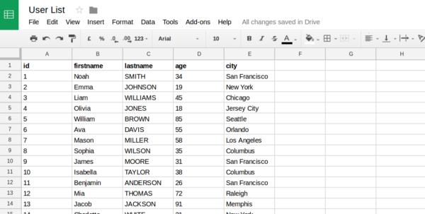 Spreadsheet Database Pertaining To Spreadsheet Tutorial  Server.js