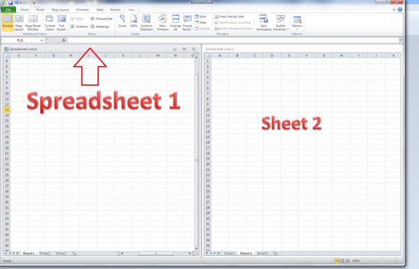 Spreadsheet Description Regarding How Do I View Two Sheets Of An Excel Workbook At The Same Time
