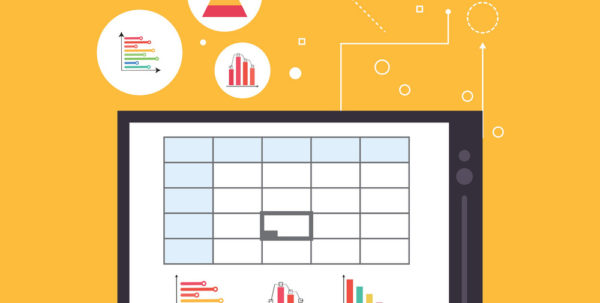 Spreadsheet Design In Spreadsheet Design Business And Infographic Vector Image