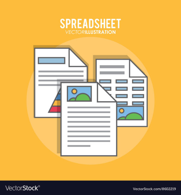 Spreadsheet Design Inside Spreadsheet Design Business And Infographic Vector Image