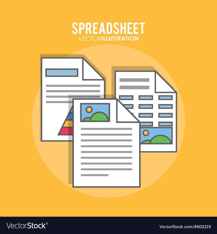 Spreadsheet Design Inside Spreadsheet Design Business And Infographic Vector Image