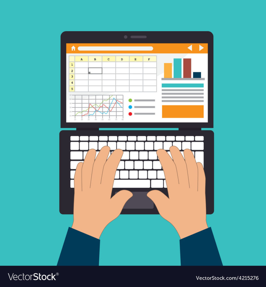 Spreadsheet Design Inside Spreadsheet Design Royalty Free Vector Image  Vectorstock