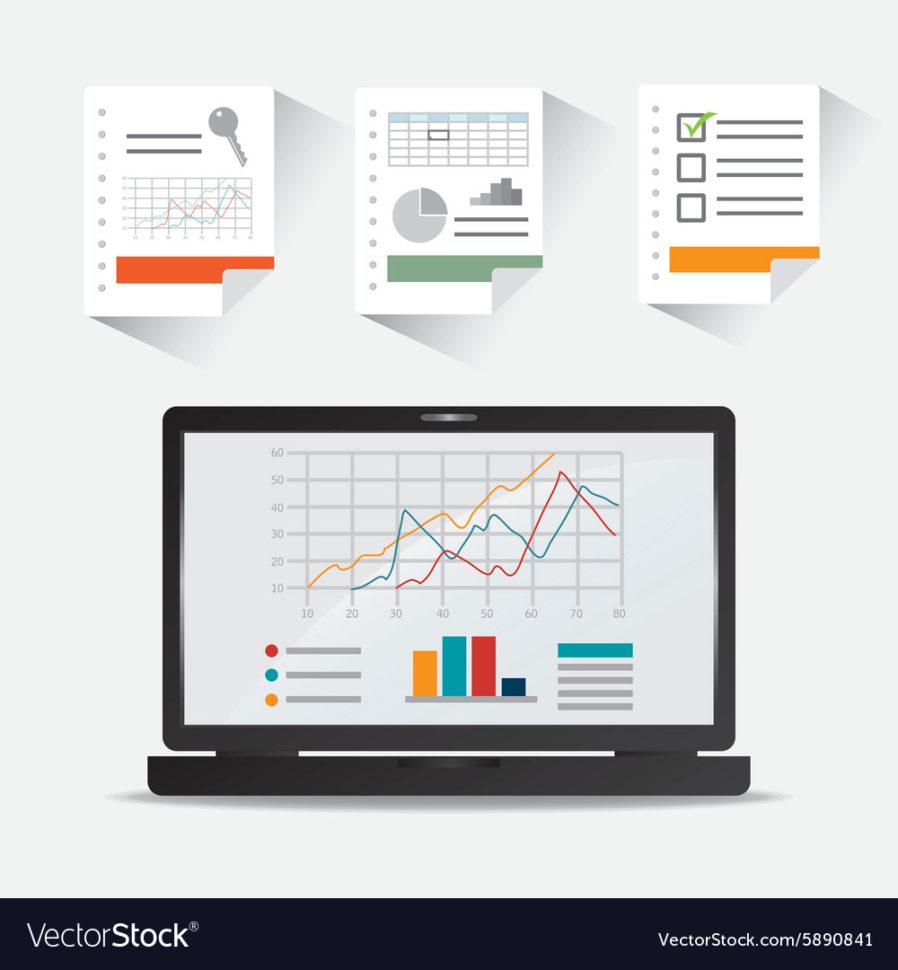Spreadsheet Design Regarding Spreadsheet Design Royalty Free Vector Image  Vectorstock