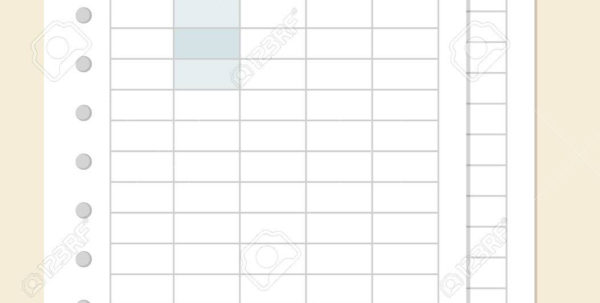 Spreadsheet Design With Regard To Spreadsheet Design, Vector Illustration. Royalty Free Cliparts
