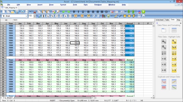 Spreadsheet Deutsch With Accel Spreadsheet, Free Spreadsheet Software With Odbc Connectivity